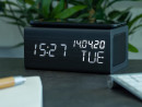 AVENWOOD induktiv 10W charging Black Wecker with Speaker