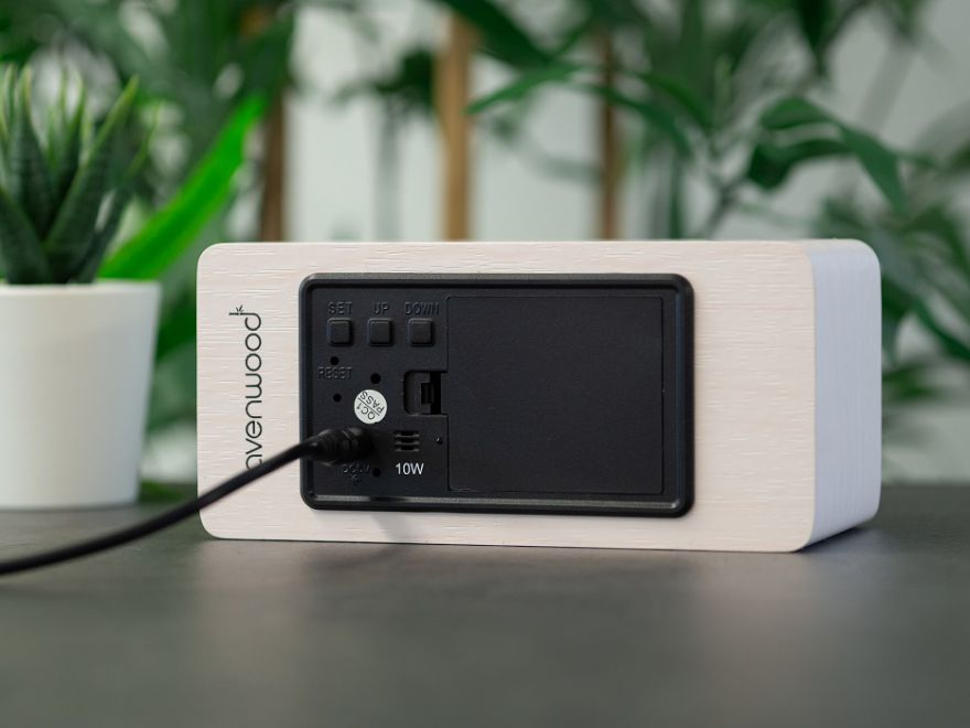 AVENWOOD induktiv 10W charging White Wecker