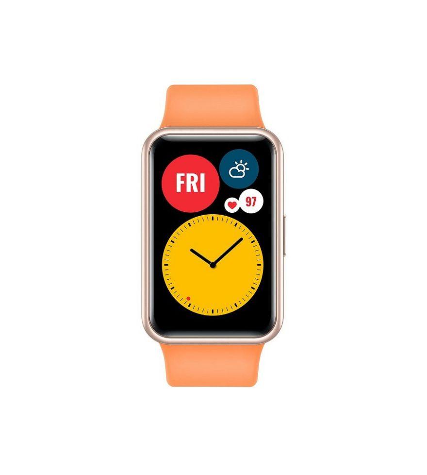 HUAWEI Watch Fit Fitness Tracker Cantaloupe Orange